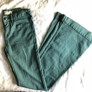 Free People Teal Flare Jeans